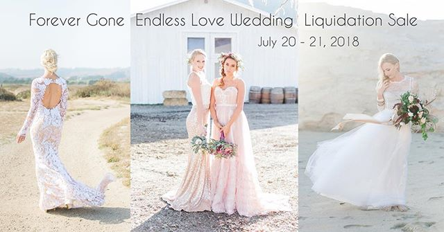 { Mega Sale } Local #SanJose Bay Area brides! 👰🏼 We are hosting a liquidation #sale in our studio at up to 90% off! The sale will be on Friday July 20th - Saturday July 21st from 12 - 5pm. We will be selling anything from sample #wedding #dresses to fixtures / supplies 🛍 …………………………………………………………………………. Click on the link in profile 👆🏼 for full details to get your free admission tickets. Due to limited showroom space, we can only allow certain number of people shopping per time so having a ticket on hand is the only guaranteed way to get in. RSVP now for the free tickets! First come first serve. …………………………………………………………………………. This is a MEGA sale - up to 90% off! Here is a list of the items that we are selling: * Sample wedding dresses * Sample bridal separates * Undergarments * Bridal gifts * Uncut fabrics (laces, satin, chiffons, printed chiffons, etc.) - perfect for home projects * Store mannequins, racks, fixtures & other misc retail supplies …………………………………………………………………………. 📸 @induhuynh @evonneanddarren @andrearufener