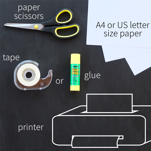 Essential tools & supplies, for printing & assembling your pattern