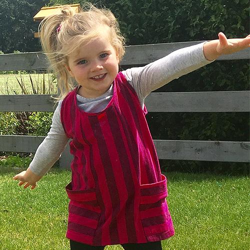 Little Havana dress   Little Miss Christchurch is wearing the  Little Havana dress  in striped cotton knit in size 3.