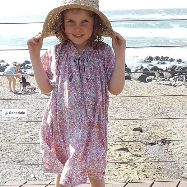 Rosetta dress   Little Miss Australia wearing the  Rosetta dress  in a beautiful vintage floral print fabric. You can check out more of her amazing mum's creations on Instagram  the_tall_mama