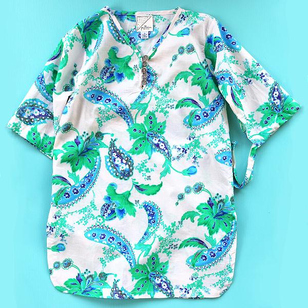 Aruba Kaftan - Lagoon — Pattern & Cloth