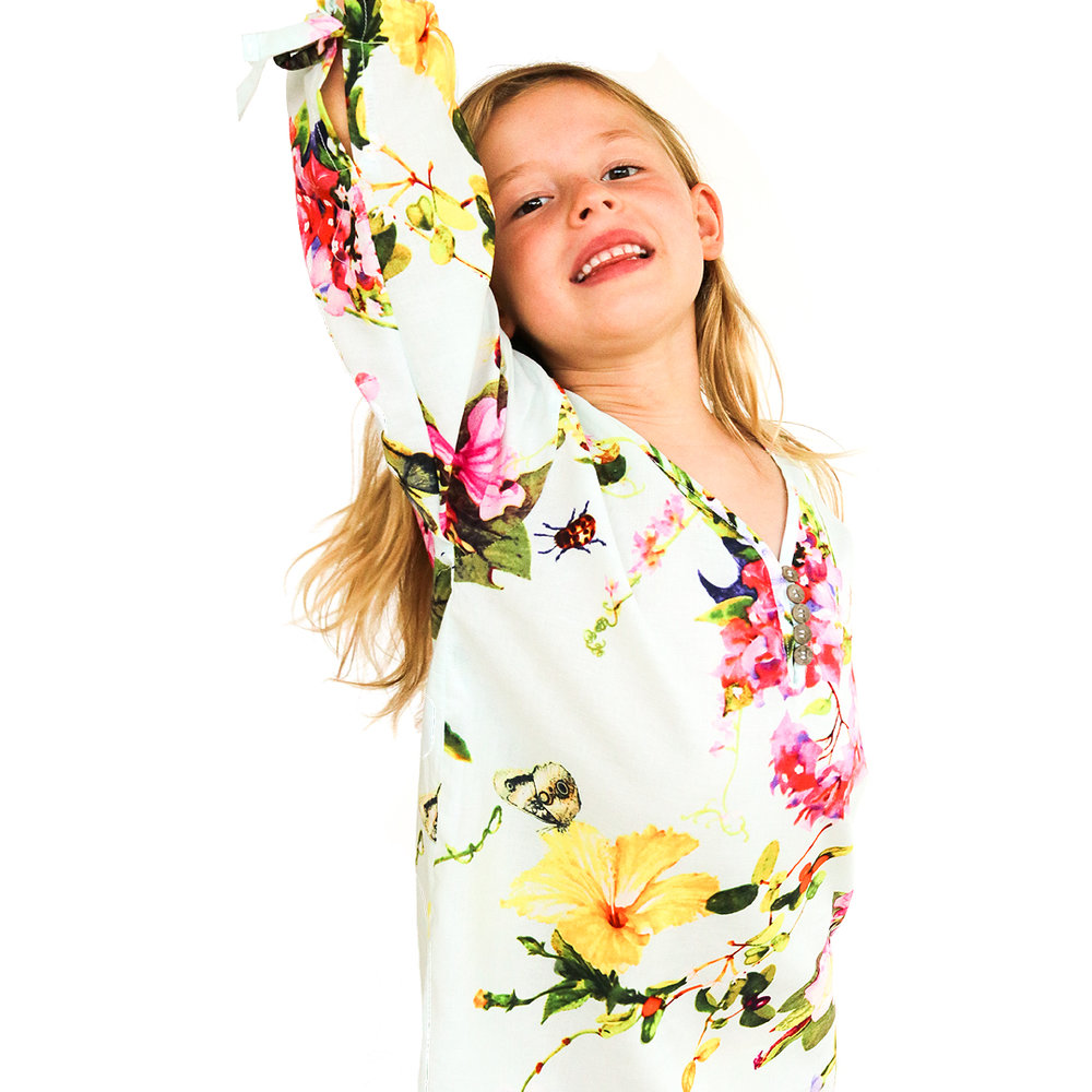 Aruba Kaftan sewing pattern  for girls 3-12yrs.