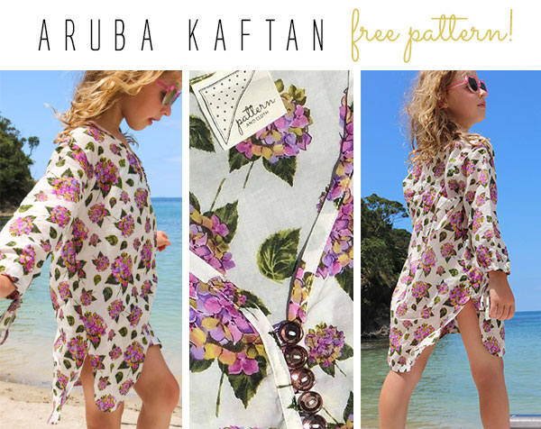 Love a free sewing pattern? - Sick of applying sunscreen? Like the sun but not the damaging rays? Our beautiful summer Aruba Kaftan pattern with its long sleeves & roomy fit is the perfect cover up this summer. Light enough for the beach & covering enough for the city. A FREE gift for you to download now from Pattern and Cloth.