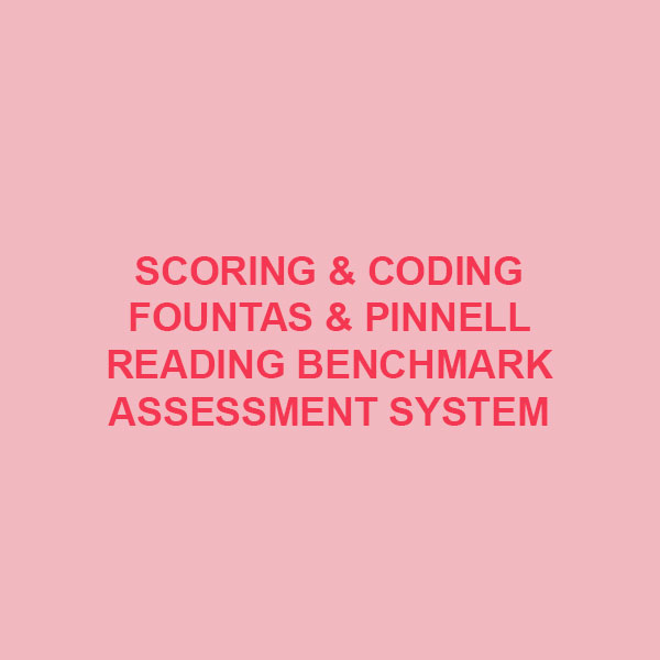 Scoring and Coding