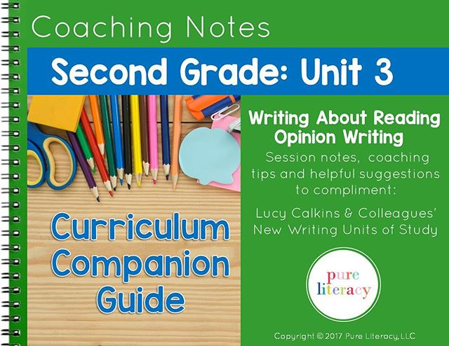 You asked and I listened!!! New product launch just in time for @teacherspayteachers sale!  Second Grade: Unit 3  coaching notes on Opinion Writing is here! An easy to follow user-friendly guide designed to compliment Lucy Calkins & Colleagues writing curriculum filled with coaching tips, suggested resources and helpful suggestions to help save you time planning your writing curriculum!!! #pureliteracy #newproduct #productlaunch #coachingnotes #opinionwriting #secondgrade #tptsale #tptsale #btsreadywithtpt #bts2017 #teachersfollowteachers #teachersofinstagram