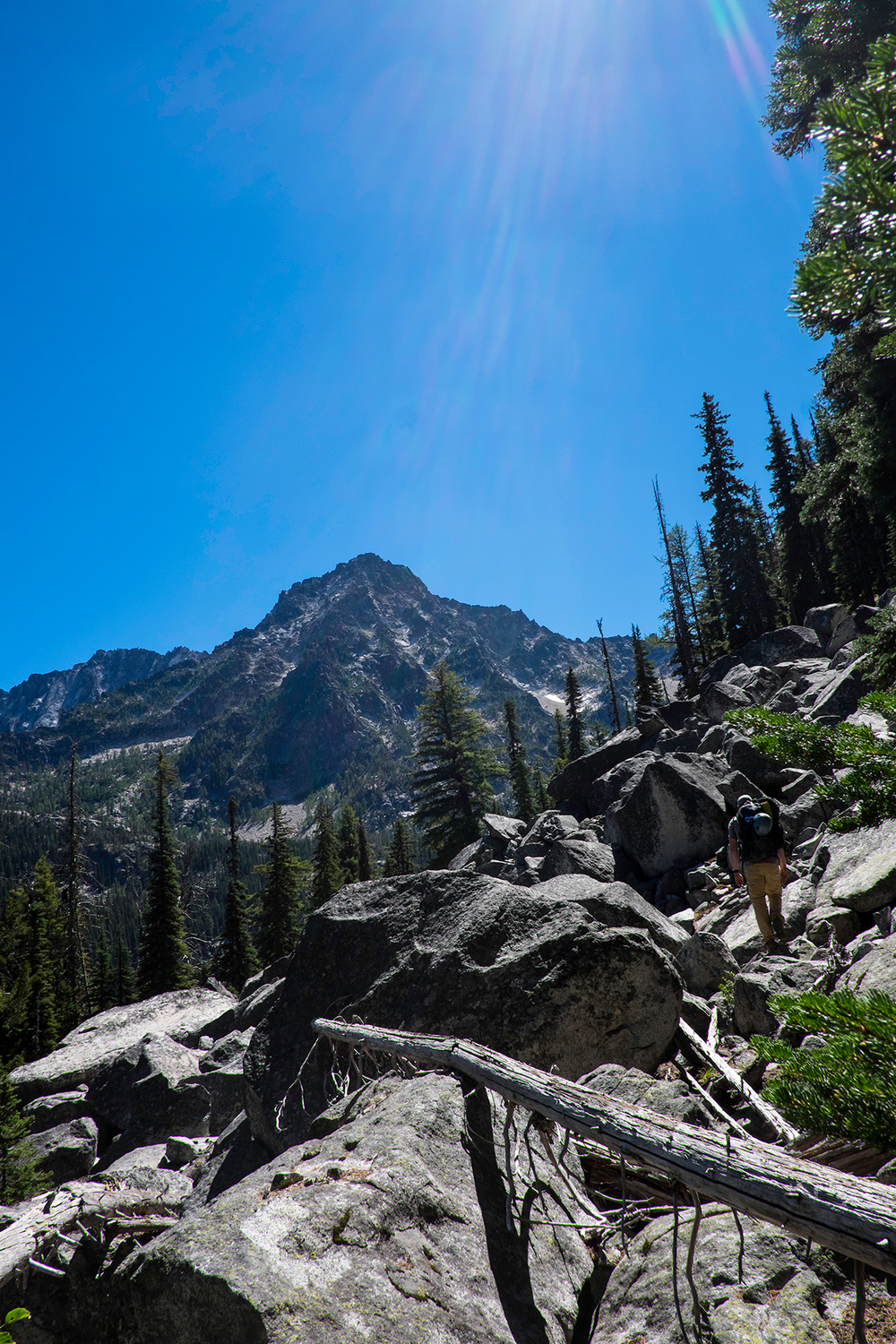 On approach to Mt. Stuart, via the Mountaineer Creek Drainage