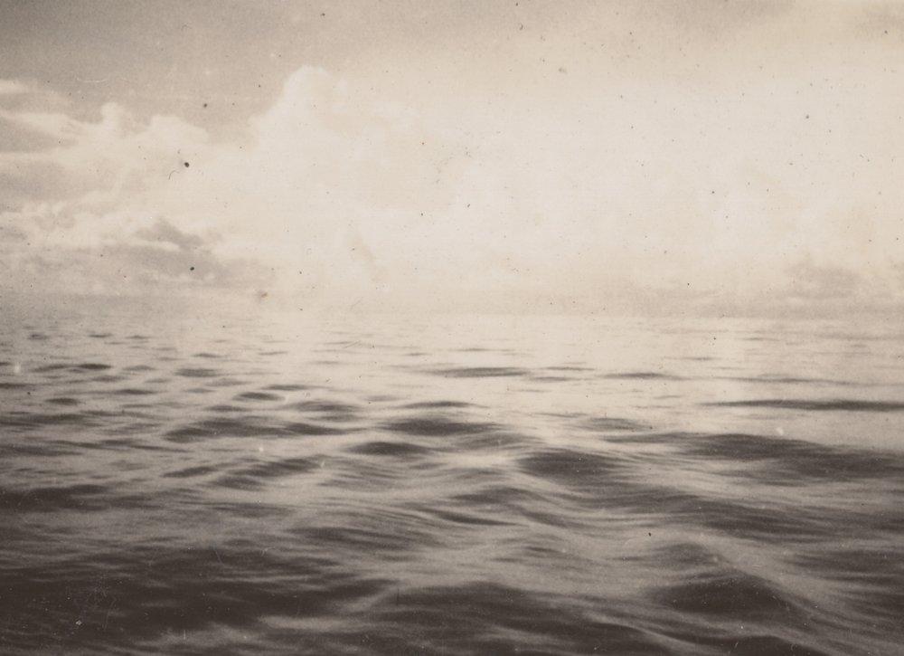 An empty sea... circa 1930
