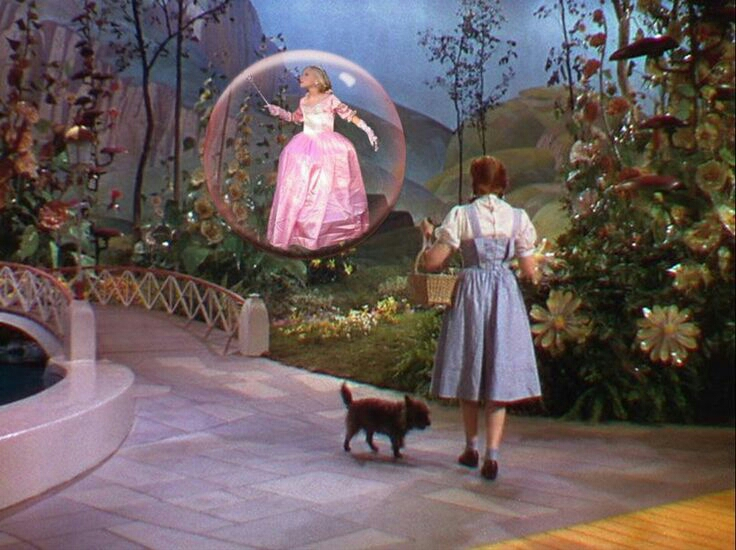 The Wizard of Oz ~ The good witch, the female protagonist - Dorothy, in another world, fantasy, colour, dreams, sepia turned to colour.... Uncanny ingrained inspiration!