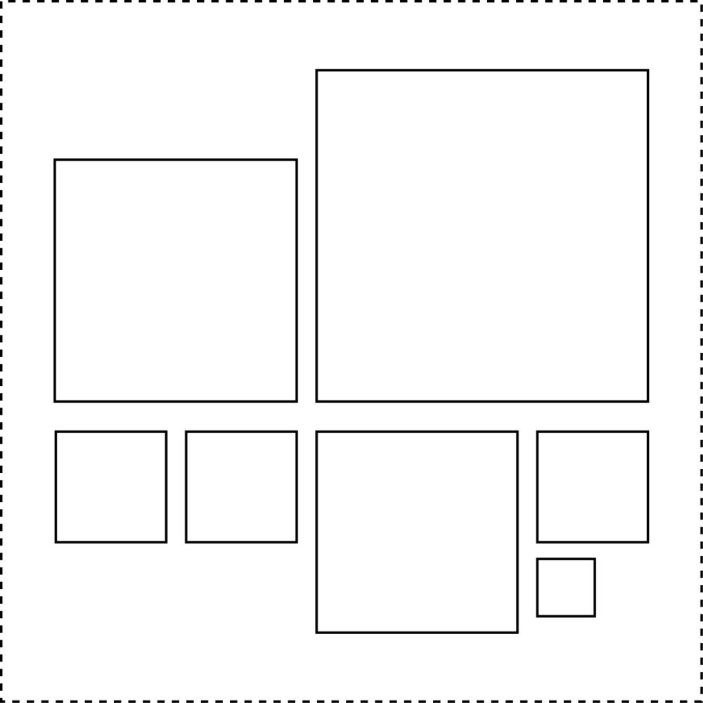 """Submit any SQUARE size artwork that is up to 12"""" x 12"""" in size."""