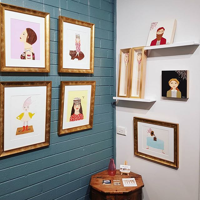 The Emma Palmer corner of the gallery ~ @emmadrawseveryday Such a fabulous illustrative, quirky style!  Send a DM for further details 💕