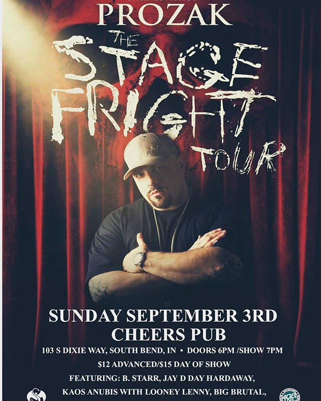 @prozak @officialbstarr & more  @CheersPub in South bend Indiana #TomorrowNight