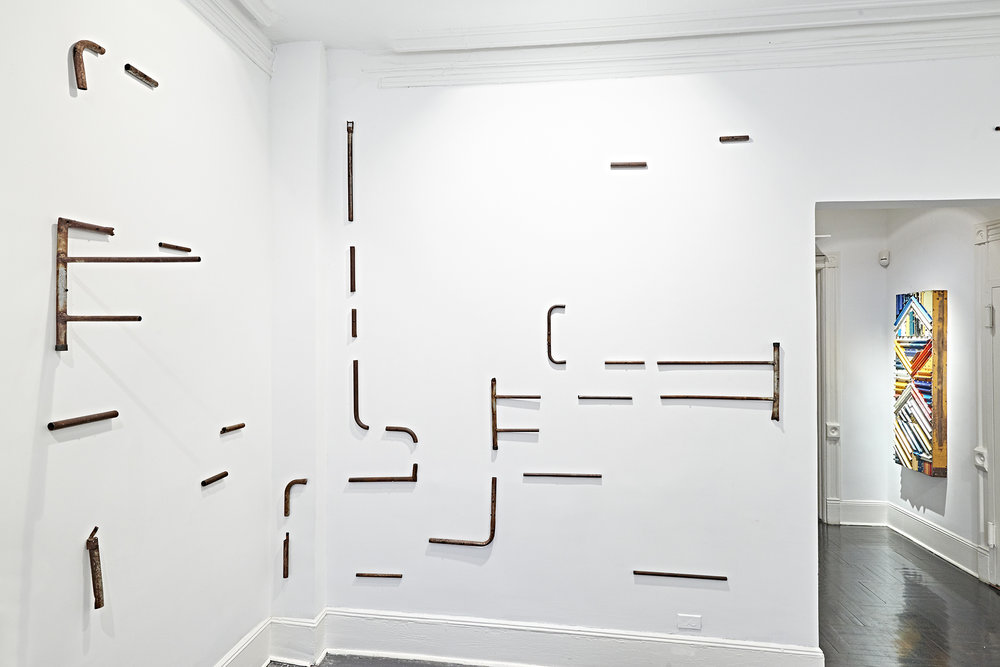"View of ""Displacements & Reconstructions"" at Henrique Faria Fine Art, New York City.  Photo credit: Arturo Sánchez"