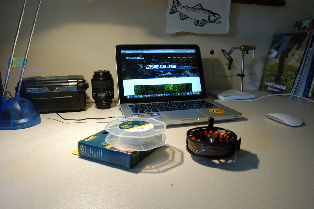 A typical scene at my desk. Notice the theme going on here?