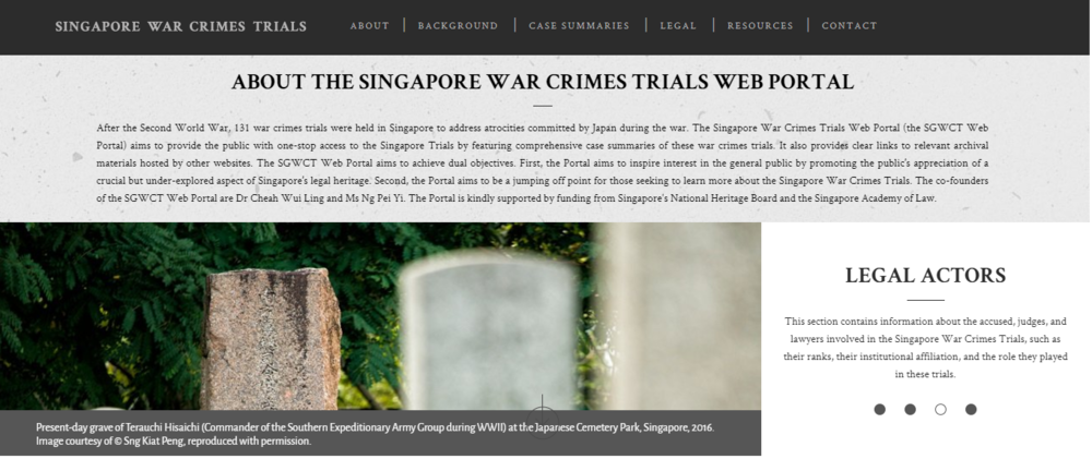 The  Singapore War Crimes Trials Web Porta l.