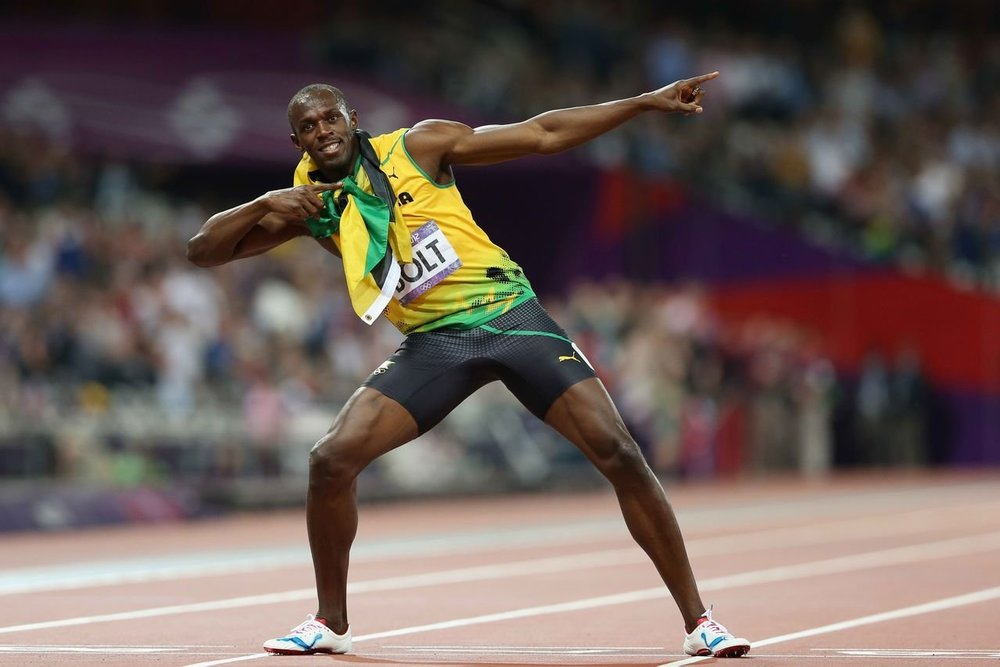 Doubt Usain is lightning fast at math hey?