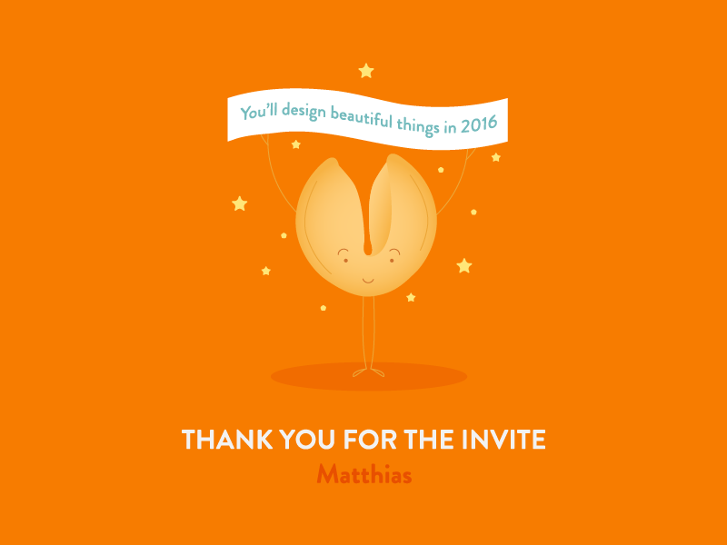 Dribbble invite thank you, by Chiara Mensa