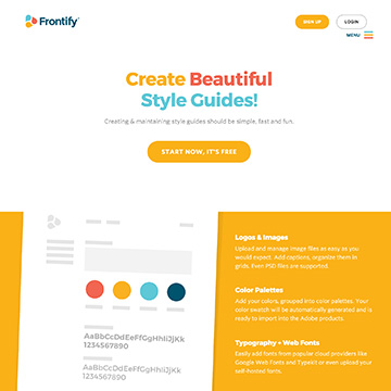 Frontify – create beautiful style guides for free
