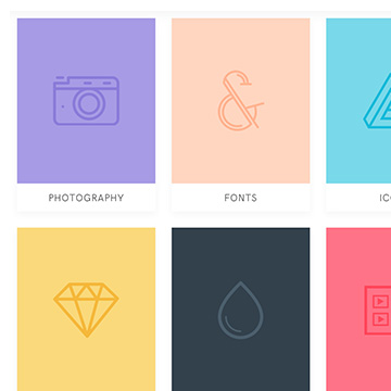 Resource cards – collection of resources for creatives