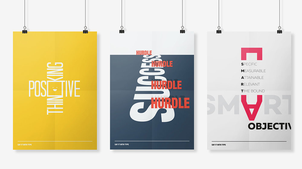 Typoghaphy poster designs by Chiara mensa
