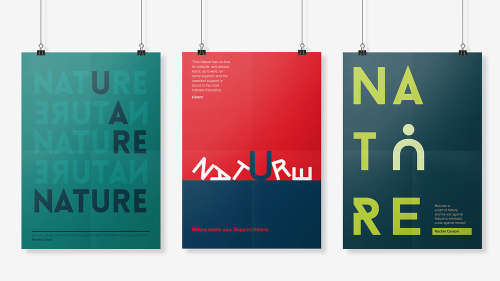 Nature poster designs by Chiara Mensa