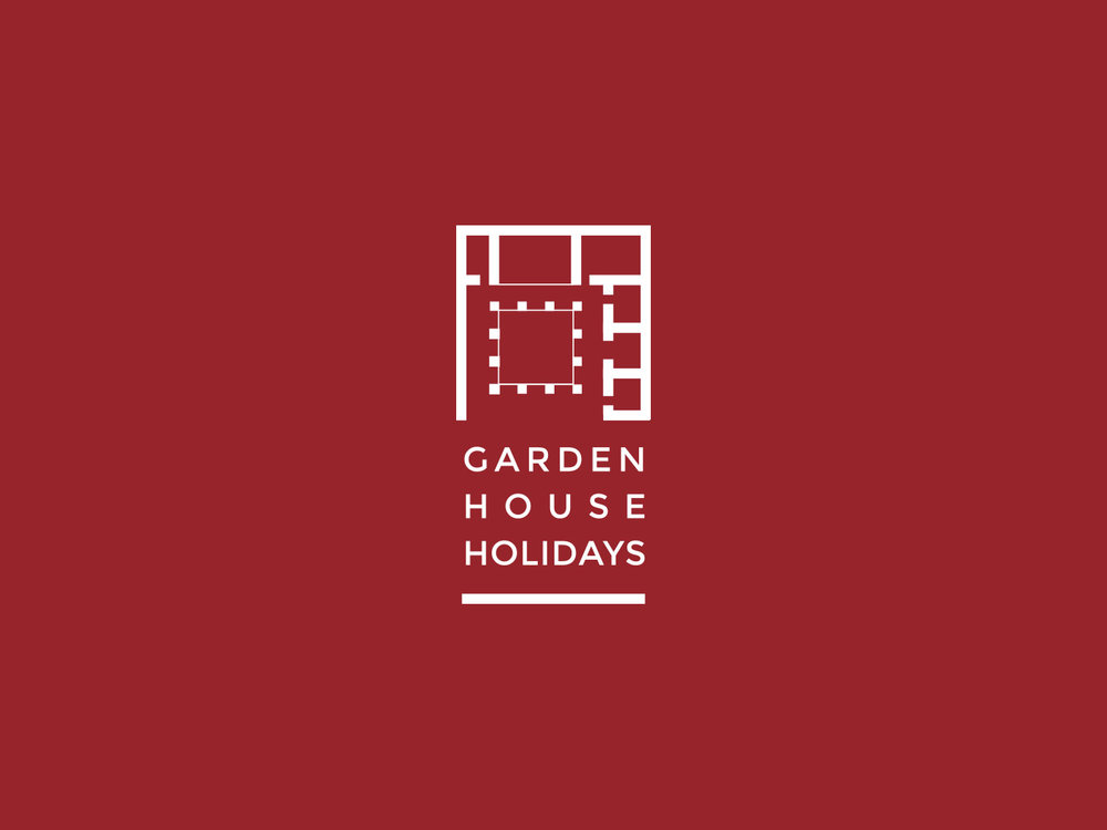 Garden house Holidays primary logo