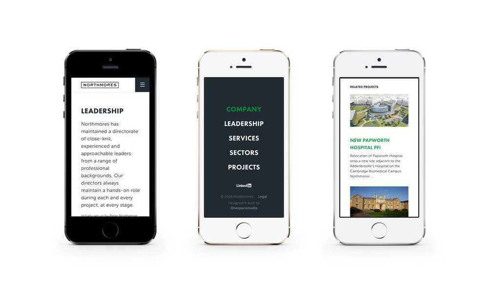 Northmores website responsive design, by Chiara Mensa