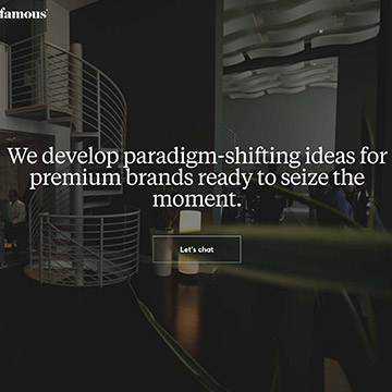 Famous.co digital agency website