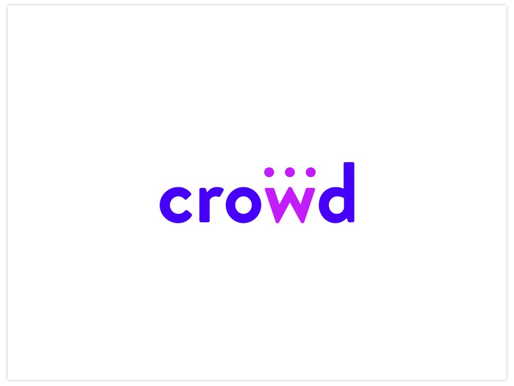 Crowd bespoke brand design, by Chiara Mensa