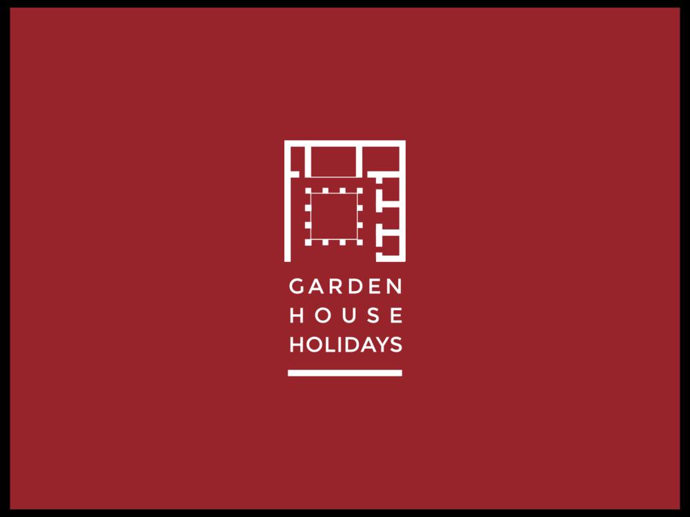 Garden house holidays bespoke brand design, by Chiara Mensa