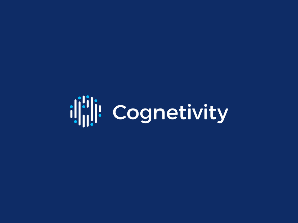 Cognetivity secondary logo, colour reversed
