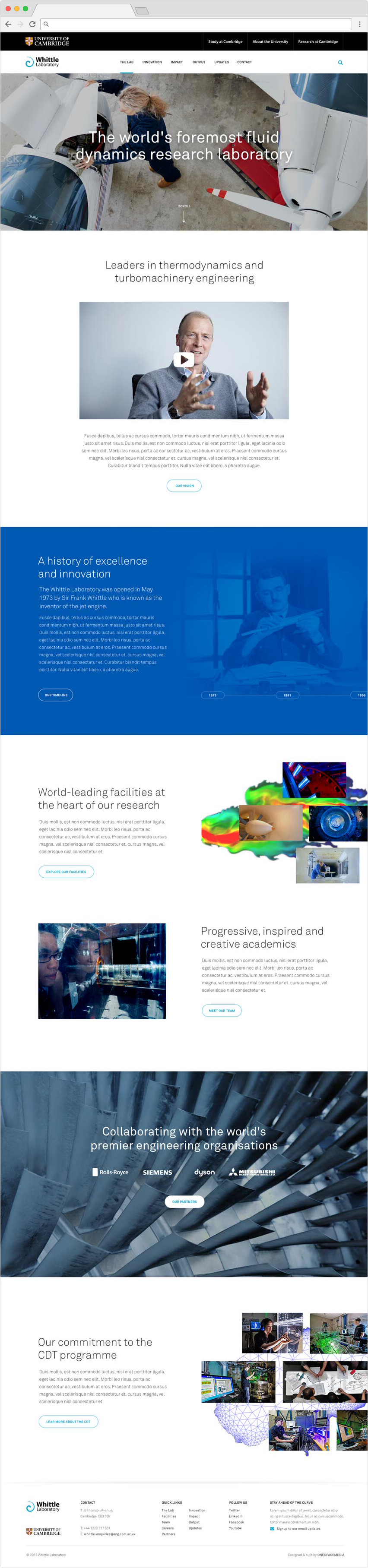 Whittle Laboratory landing page, by Chiara Mensa