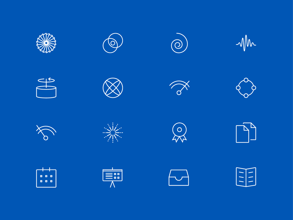 Whittle Laboratory bespoke icon set