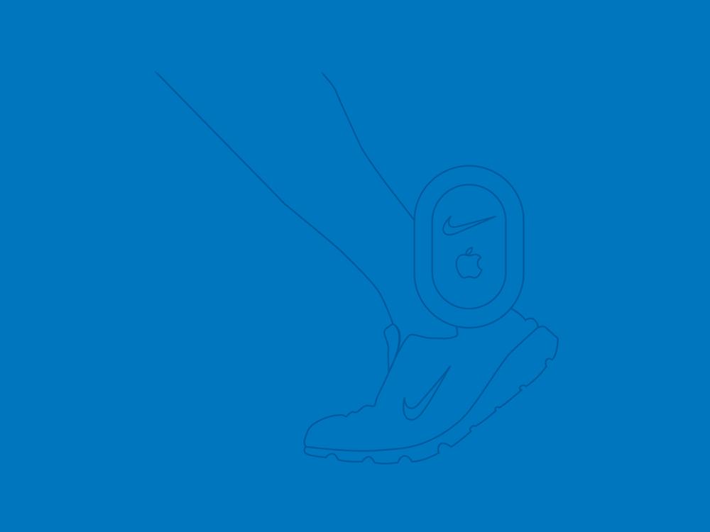 Nike sensor  vector illustration by Chiara Mensa, for Onespacemedia