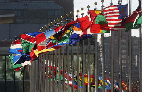 Photo Credit: Flags of member nations flying at United Nations Headquarters ,   United Nations Photo , Flickr