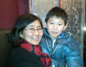 Photo: Wang Yu and her son Bao Zhuoxuan, Photo courtesy of Bao Zhuoxuan