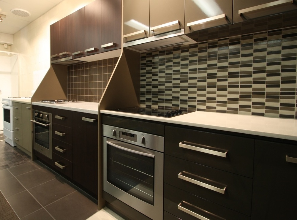 Our Rock Property Showroom, with some samples of the kitchen that we can install in your property