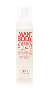 Volume foam, light but gives your blowdry holod and body!