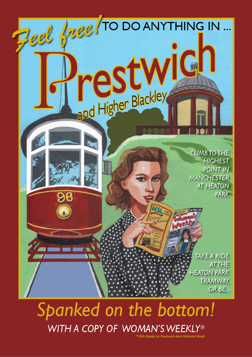 Prestwich poster by Eric Jackson, Statement Artworks