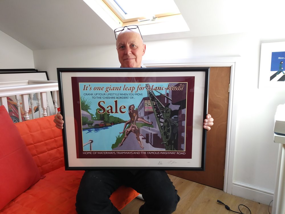 A2 framed Sale poster