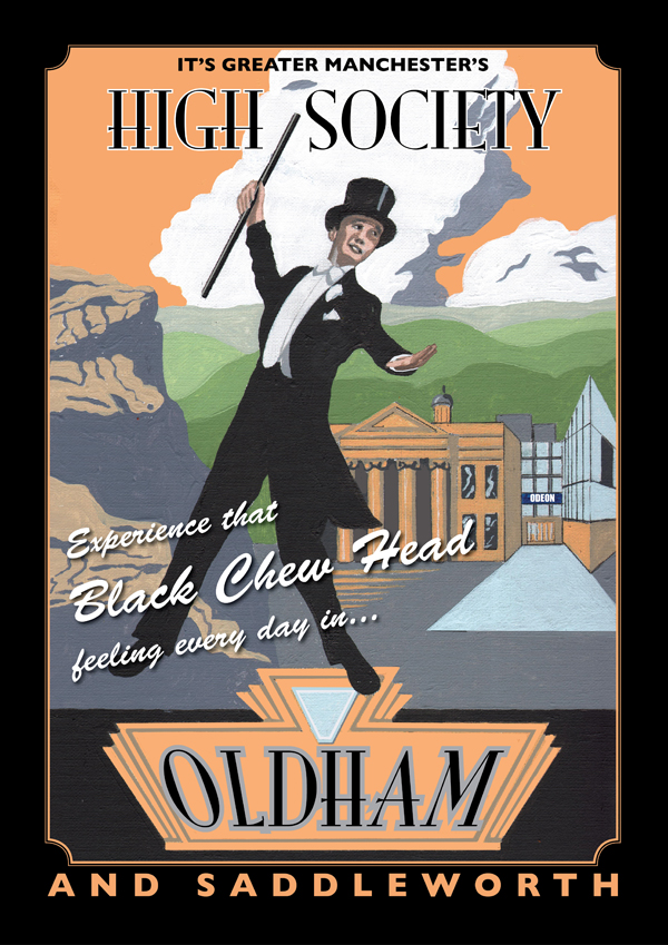 Oldham and Saddleworth poster by Eric Jackson, www.statementartworks.com