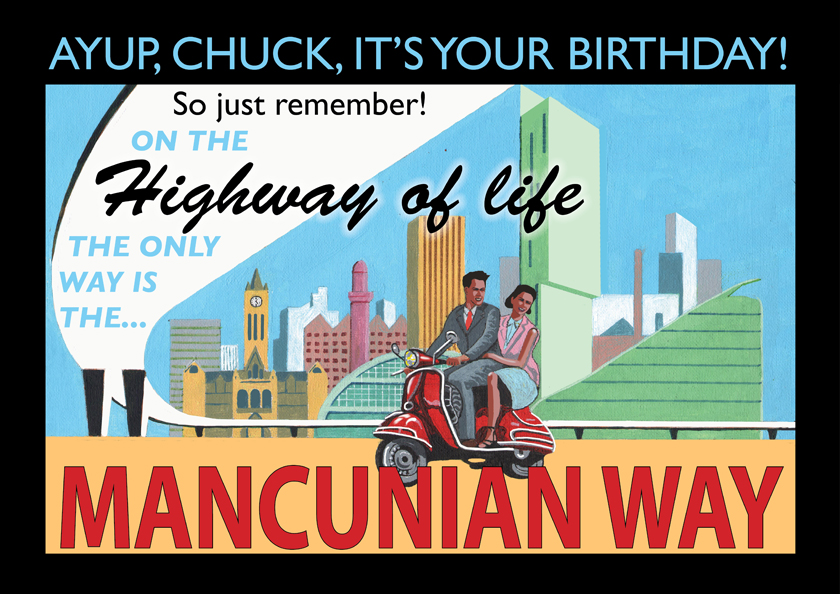 Mancunian Way birthday card
