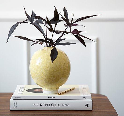 KM | Colour study 02, Mustard - vase, kinfolk, floral