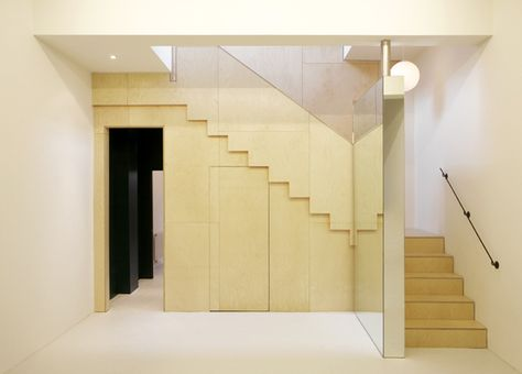 KM | Colour study 02, Mustard - waldo works, pivot mirror, warehouse conversion, staircase