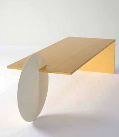 KM | Colour study 02, Mustard - Patrick Nagar, gold borealis coffee table