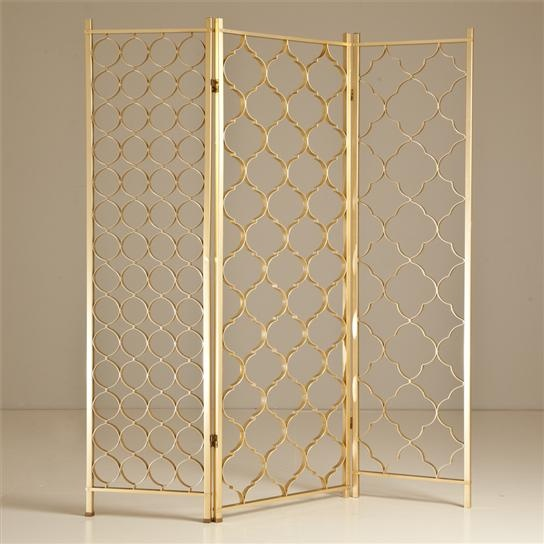 KM | Colour study 02, Mustard - gold filigree screen divider