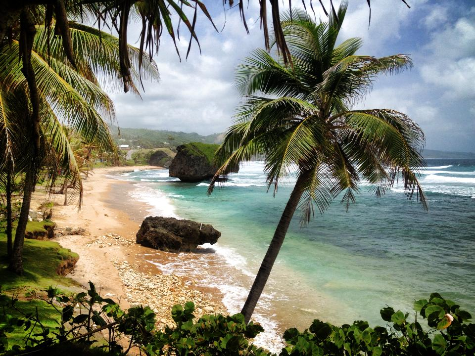 The beautiful Bathsheba Beach on the East Coast of Barbados. Photo taken from public domain stock files.