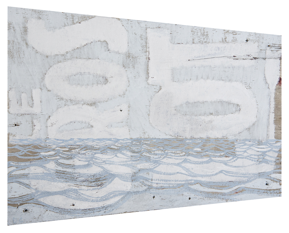 Le Gros Lot  2014 · 28 x 22 cm · Gouache on wooden sign