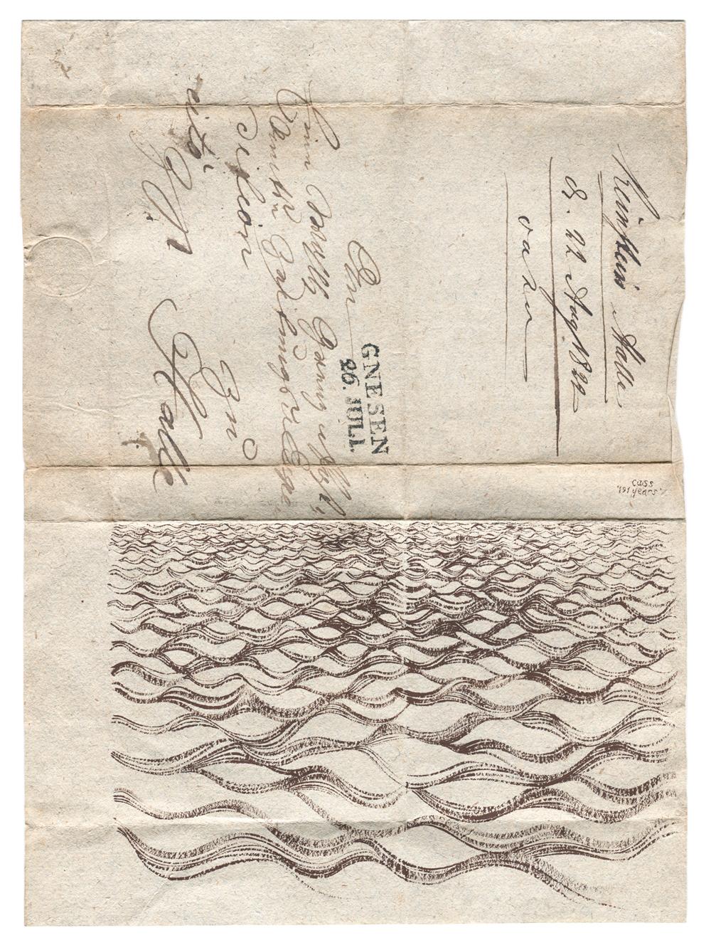 191 Years  2011 / 2012 · 20 x 34 cm · Framed gouache letter
