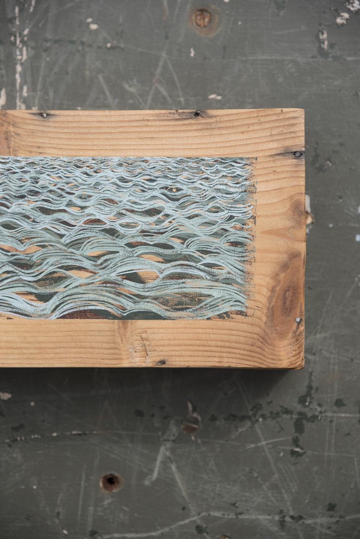 Strip  2016 · 25 x 14 cm · Gouache on box base