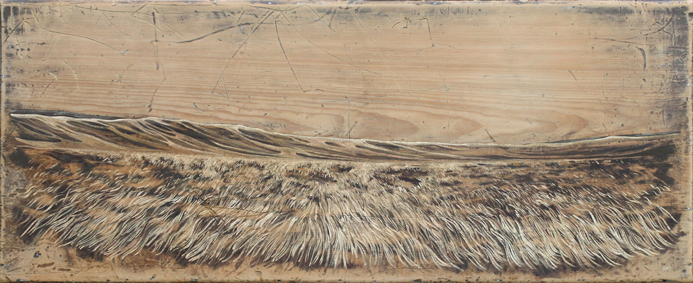 To The Land V (Lauder Moor)+ Detail 126 x 52 cm • Gouache on trunk lid Sold
